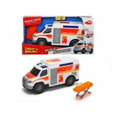 Детская Игрушка для мальчиков Машина скорой помощи, свет и звук, открывающиеся двери, каталка, Dickie Toys