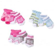 Игровой набор для девочек Аксессуары для куклы Бэби Борн: Носочки 2 пары, розовый - Baby born Zapf Creation
