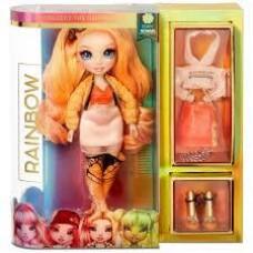 Кукла для девочек Поппи Рейнбоу Хай с 2 комплектами одежды и 20 сюрпризами, 28 см - Rainbow High Fashion Dolls