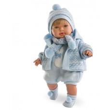 Детская Игровая Испанская Подвижная Говорящая Кукла для девочек мальчик Мигуэль 42 см Llorens из винила