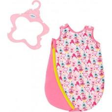 Детский Игровой Спальный конверт для Куклы Спальник розовый на молнии Беби Борн Baby Born Zapf Creation