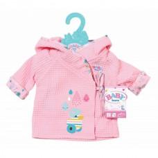 Детская Игровая Одежда для Куклы Бэби Борн Милый халатик теплый с капюшоном розовый Baby Born Zapf Creation