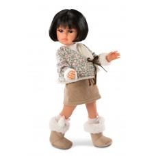 Детская Игровая Испанская Подвижная Кукла Даниэла 37 см с шарнирной головой в костюме с юбкой Llorens, винил