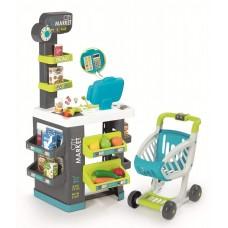 Детский Игровой Интерактивный Супермаркет с электронной кассой с микрофоном со звуком City Market Smoby Смоби