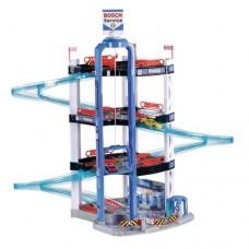 Детский Игровой Набор для мальчиков Паркинг Bosch Service четырехуровневый с Лифтом, 2 Машинками, трек Klein