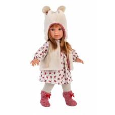 Детская Игровая Развивающая Испанская Кукла Llorens Мартина блондинка в плюшевой шапочке 40 см из винила