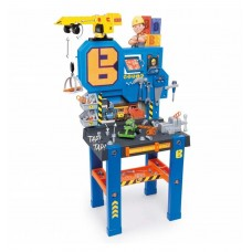 Детская Игровая Безопасная Мастерская с инструментами с 90аксессуарами и лифтом Bob Bricolo Center Smoby Смоби
