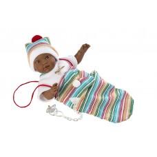 Детская Игровая Испанская Подвижная Говорящая Кукла для девочек Куки мулатка с соской 30 см Llorens из винила
