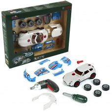 Игровой Набор для мальчиков Авто-тюнинг BOSCH 3в1: разборная гоночная машинка, отвертка и шуруповерт, KLEIN