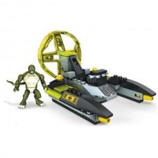Детский Развивающий Игровой Конструктор для мальчиков Транспорт Лизарда 91 деталь Mega Bloks Marvel Universe