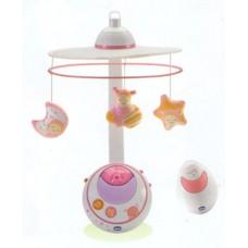 Музыкальный Мобиль Волшебные Звездочки с сенсорным включением и пультом управления, розовый - Magic Stars Сhicco