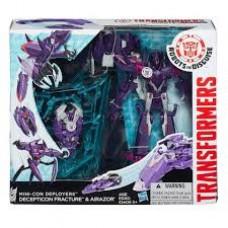 Игровой набор для мальчиков Роботы-Трансформеры Десептиконы Фракшер и Эйрезор - Mini-Con Deployers Hasbro