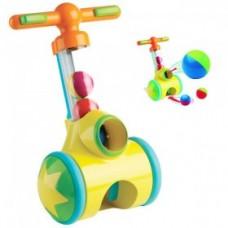 Развивающая Игрушка-каталка Толкай-Запускай-Собирай Аэродинамическая труба с 5 шариками Pic-and-Pop TOMY