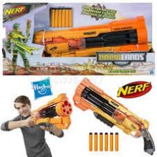 Детское Игрушечное Оружие Бластер с Барабаном на 6 Стрел и Креплениями для ремня Бродяга ДУМЛЭНДС NERF Нерф