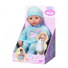 Детская Игровая Кукла Бэби Аннабель Мой первый малыш мальчик в голубом комбинезоне Baby Annabell Zapf Creation