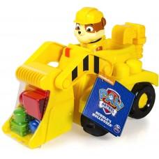 Детский Игровой  Развивающий Набор Конструктор Бульдозер Крепыша Щенячий патруль Paw Patrol 27х13х16 см желтый