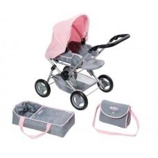 Детская Игровая Коляска для куклы Baby Born делюкс 3 в 1 (складная, с сумкой и съемной люлькой) Zapf Creation