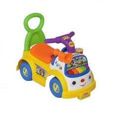 Детская Игровая Машинка Каталка Little People, звук. эфф., гудок, пианино, 53х26х33 см, оранжевая Fisher Price
