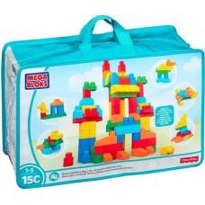 Детский Игровой Развивающий Набор Конструктор Делюкс 150 элементов в сумке на молнии Mega Bloks First Builders