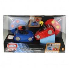 Детский Игровой Набор для Мальчиков Машинки Бампер, 2 дистанц. пульта, 2 машинки, Little Tikes (красный+синий)