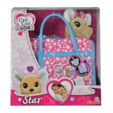 Детская Плюшевая Игрушка для Девочек Cобачка Чи Чи Лав Звездный стиль святящиеся подвеска Chi Chi Love Simbo