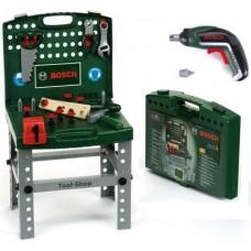 Игровой набор для мальчиков Складной Верстак Bosch Мастерская в чемодане с инструментами и аксессуарами, Klein