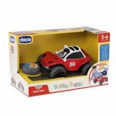 Машинка для мальчиков Джип Бобби Багги на радиоуправлении с пультом-рулем, красно-белая Chicco Bobby Buggy