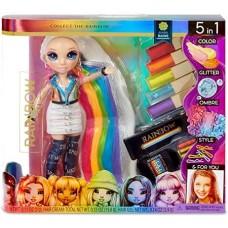 Игровой набор Стильная Прическа Рейнбоу Хай с куклой и аксессуарами для изменения цвета волос - Rainbow High