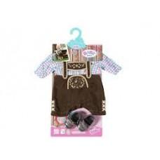 Игровой набор одежды для куклы Бэби Борн в Баварском стиле: рубашка, бриджи, туфли - Baby born Zapf Creation