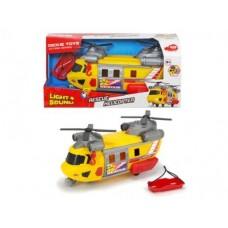 Игрушка для мальчиков Вертолет Службы спасения с лебедкой, светом и звуковыми эффектами, 30 см - Dickie Toys