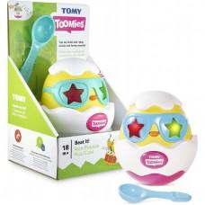 Детская Развивающая Музыкальная игрушка Стучалка для малышей Разбей яйцо с ложечкой и световыми эффектами Tomy