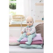 Детский Комбинезон Для Игровой Куклы Бэби Аннабель салатовый с овечками и бабочкой Baby Annabell Zapf Creation