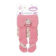 Пара Детских Игровых Колготок для куклы Бэби Аннабель 43 см Baby Annabell Zapf Creation - розовые в сердечко