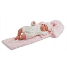 Детская Игровая Испанская Говорящая Кукла для девочек Лала со спальным конвертом 42 см Llorens из винила