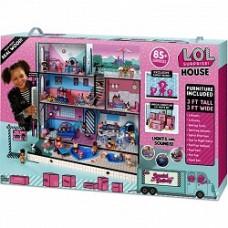 Огромный Дом и куколки ЛОЛ, 3 этажа из дерева со световыми и звуковыми эффектами, 85 аксессуаров - LOL Surprise!