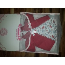 Одежда для детских игровых Испанских кукол Ллоренс 42 cм Накидка с платьем из мягких тканей на вешалке Llorens
