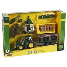 Детский Игровой Набор Для Мальчиков Трактор с прицепом, 33 элемента, отвертка, зеленый John Deere Klein
