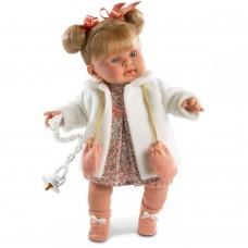 Детская Игровая Испанская Подвижная Говорящая Кукла для девочек Ирина с соской 42 см Llorens из винила
