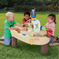 Детская Многоуровневая Конструкция Водный Столик Пиратский Корабль с аксессуарами, 101х74х96 см, Little Tikes