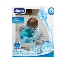 Детская Мягкая Игрушка-Ночник Мишка со световыми эффектами и музыкой разных жанров голубой Chicco Чико