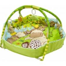 Детский Развивающий Комплекс Коврик для малышей Веселая ферма погремушки, безопасное зеркальце Canpol Babies