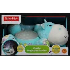 Детский Игровой Разноцветный Музыкальный Ночник  Бегемотик Hippo Проектор-игрушка с таймером Fisher Price