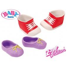 Детские Игровые Красные Кроссовки и фиолетовые туфли для Куклы Бэби Борн 2 пары Baby Born Zapf Creation