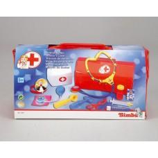 Детский Развивающий Игровой Набор Доктора 12 предметов в красном чемоданчике функциональный Simba Симба