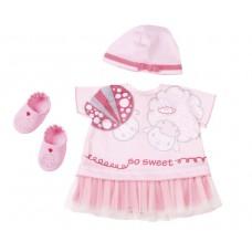 Набор Одежды в коробке для детской игровой Куклы Бэби Аннабель розовая 3 предмета Zapf Creation Baby Annabell
