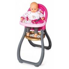 Детский Игровой Складной Стульчик для кормления пупса до 42см розовый со съемным чехлом Baby Nurse Smoby Смоби 58578-14 tst-314387173