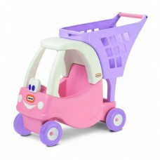 Детская Игровая Каталка для кукол Корзина для покупок, тележка для игрушек, высота 55 см розовая Little Tikes