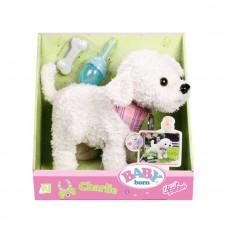Детский Игровой Интерактивный Многофункциональный Щенок Пудель белый Беби Борн Baby Born Zapf Creation