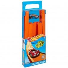 Детский Игровой набор Хот Вилс Конструктор Трасс Трек и Автомобиль 18 частей и соеденителей Hot Wheels Mattel 59048-14 tst-601639712
