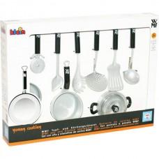Детский Игрушечный Набор Посуды WMF для игровой кухни, 9 предметов: кастрюли, сковородка, аксессуары - Klein 59148-14 tst-622040280